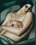 Rafaela sur Fond Vert (Le Reve) Stretched Canvas Print by Tamara de Lempicka