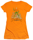 Juniors: Aquaman - Aquaman Distressed Shirts