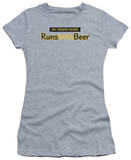 Juniors: Runs With Beer T-shirts