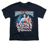 Youth: Wonder Woman - American Heroine T-shirts