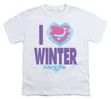 Youth: Dolphin Tale - I Heart Winter T-shirts