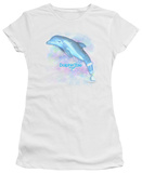 Juniors: Dophin Tale - Winter Water Color T-Shirt