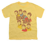 Youth: Star Trek - Retro Illustrated Crew Shirts