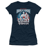 Juniors: Wonder Woman - American Heroine T-shirts