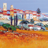 St Paul de Vence Prints by  Corbiere