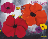 Lady Poppies Poster af Aurélie Pfaadt