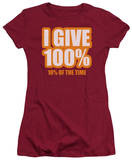 Juniors: I Give 100% Shirt
