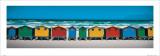 Capanne sulla spiaggia Poster