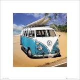 VW Camper Beach Print