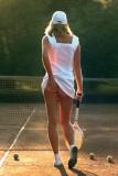 Tennismeisje Poster