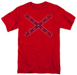 Distressed Rebel Flag T-Shirt
