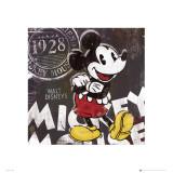 Micky Mouse Chalk Póster