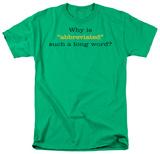 Abbrviated T-shirts