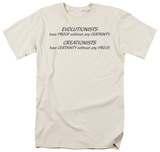 Evolitionists Creationists T-shirts