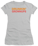 Women's: Drunkin' Grownups (Slim Fit) T-shirts