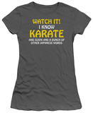 Juniors: I Know Karate T-shirts
