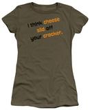 Juniors: Cheese Slid off T-Shirt