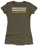 Juniors: Discourage Inbreeding T-Shirt