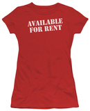 Juniors: Available For Rent T-shirts