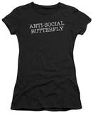 Juniors: Antisocial Butterfly T-Shirt
