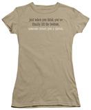 Juniors: Finally Hit Bottom T-shirts
