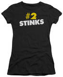 Juniors: No. 2 Stinks T-shirts