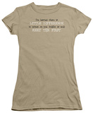 Juniors: Keep the First Shirt
