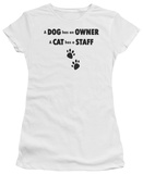 Juniors: Cat has a Staff T-Shirt