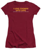 Juniors: Cooking with Wine T-Shirt