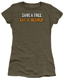 Women&#39;s: Eat a Beaver (Slim Fit) T-shirts