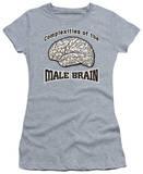 Juniors: Male Brain T-Shirt