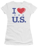 Juniors: I Love the U.S. T-shirts