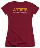 Juniors: Artists Do It With Creativity T-shirts