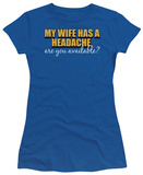 Juniors: Wife's Headache Shirts