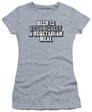 Women's: Beer Vegetarian (Slim Fit) T-shirts
