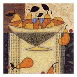 Asian Pears In Bowl Prints by Penny Feder
