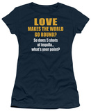 Women's: World Go Round (Slim Fit) T-shirts