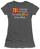 Juniors: College Statistics T-shirts