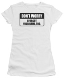 Women&#39;s: Forgot Your Name (Slim Fit) T-Shirt