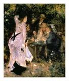 Au Jardin Du Moulin Print by Pierre-Auguste Renoir