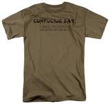 Confucius SayClean Tie T-Shirt