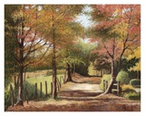 Autumn Country Road Poster by Lene Alston Casey