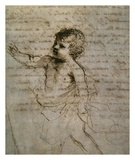 Sketch of a Child Posters by  Guercino (Giovanni Francesco Barbieri)
