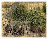 Place Due Theatre Francais, 1898 Affiches par Camille Pissarro