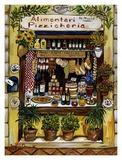 Alimentari Pizzicheria Affiche par Suzanne Etienne