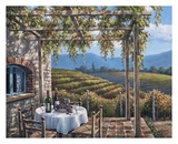 Vineyard Terrace Prints by Sung Kim