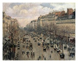 Boulevard Montmartre, Afternoon Sun, 1897 Affiches par Camille Pissarro