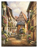 Village Court Affiche par Sung Kim