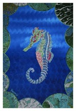 Seahorse on Blue Posters by  Rogest
