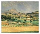 A View Over Mont St. Victoire Posters by Paul Cézanne